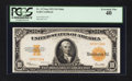 Large Size:Gold Certificates, Fr. 1173a $10 1922 Mule Gold Certificate PCGS Extremely Fine 40.. ...