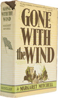 "Books:First Editions, Margaret Mitchell. Gone with the Wind. New York: Macmillan,1936. First edition, first printing with ""Published May,..."