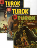 Silver Age (1956-1969):Adventure, Turok Group (Dell, 1957-60) Condition: Average VF.... (Total: 4 Comic Books)