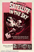 "Movie Posters:Science Fiction, Satellite In The Sky (Warner Brothers, 1956). One Sheet (27"" X 41""). Small, British-made thriller about a rocketship crew o..."