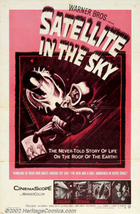 """Satellite In The Sky (Warner Brothers, 1956). One Sheet (27"""" X 41""""). Small, British-made thriller about a rock..."""