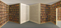 Patrick Hughes (British, born 1939)  Open Book 20th century Oil on board Signed and titled