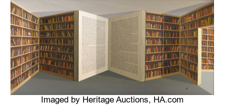 Patrick Hughes (British, born 1939)  Open Book  20th century Oil on board Signed and titled on reverse 43 x 82-1/2...