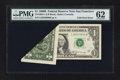 Error Notes:Foldovers, Fr. 1905-L $1 1969B Federal Reserve Note. PMG Uncirculated 62.. ...