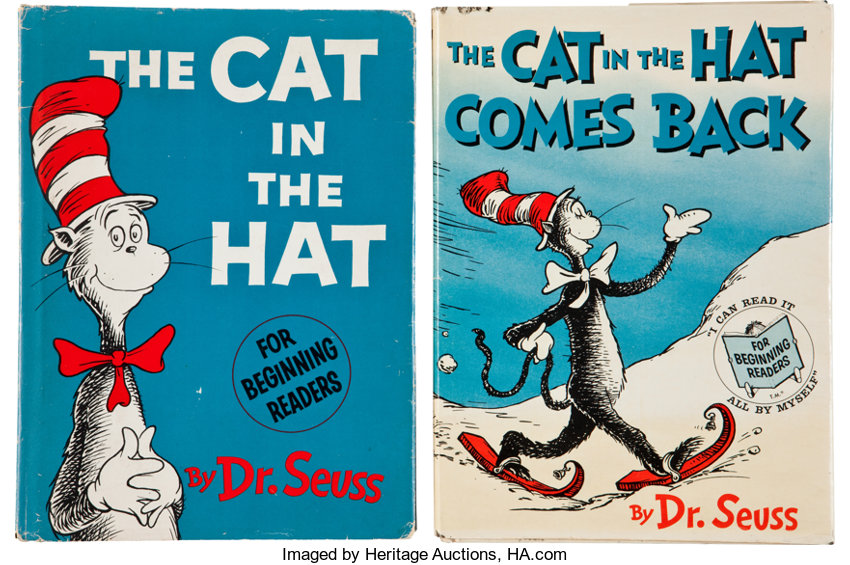 two cat in the hat books