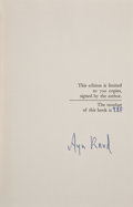 Books:Signed Editions, Ayn Rand. Capitalism: The Unknown Ideal. [New York]: NAL,[1966]. First edition, limited to 700 numbered copies of w...