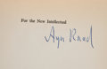 Books:Signed Editions, Ayn Rand. For the New Intellectual: The Philosophy of AynRand. New York: Random House, [1961]. First edition, first...