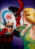 Art:Illustration Art - Pulp, VIRGIL FINLAY (American, 1914-1971). Masquerade Digest cover. Oil on canvas. 12 x 8.5 in.. Signed lower right. From t...