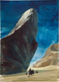 Art:Illustration Art - Pulp, JOHN SCHOENHERR (American, 1935-2010). Dune, paperback cover, 1965. Gouache and watercolor on board. 15.25 x 11 inches....