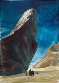 JOHN SCHOENHERR (American, 1935-2010) Dune, paperback cover, 1965 Gouache and watercolor on board