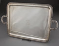 Paintings, SPANISH SILVER TWO-HANDLED TRAY, MONOGRAMMED SG . Spain, 20th century . Marks: GARCIA, VALLE Y CA, BIENC, 916...