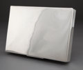 MEXICAN SILVER CIGAR BOX 20th century Marks: RIVERA (effaced) STERLING, 925 13-3/4 inches long (34.9 cm)