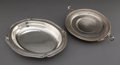 Silver Holloware, American:Bowls, INTERNATIONAL SILVER BREAD TRAY IN THE WEDGWOOD PATTERN ANDAN OVAL DISH . Meriden, Connecticut, 20th century. ... (Total: 2Items)