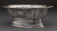 MEXICAN SILVER OVAL FOOTED BOWL RETAILED BY EL ENCANTO 20th century Marks: (star) EL ENCANTO, 916