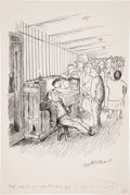 Books:Original Art, Garth Williams (American 1912-1996). Two preliminary drawings forillustrations in The Cricket in Times Square by Ge...