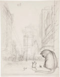 Miscellaneous, Garth Williams. Six preliminary drawings (some of which were notused) for The Cricket in Times Square by George Selden,...