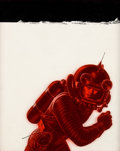 Art:Illustration Art - Pulp, EMSH (EDWARD EMSHWILLER) (American, 1925-1990). Have Space Suit-Will Travel, book cover, 1958. Mixed media on board . 1...