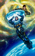 Art:Illustration Art - Pulp, DONATO GIANCOLA (American, 20th Century). Stars Blue Yonder,paperback cover illustration, 2008. Acrylic on board . 28 x...