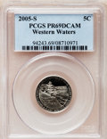 Proof Jefferson Nickels, 2005-S 5C Ocean In View PR69 Deep Cameo PCGS. PCGS Population(12052/572). NGC Census: (0/0). Numismedia Wsl. Price for pr...