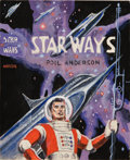Art:Illustration Art - Pulp, EMSH (EDWARD EMSHWILLER) (American, 1925-1990). Star Ways,preliminary paperback cover, 1978. Pencil, gouache, andtempe...
