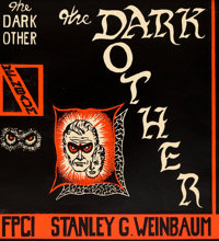 JON ARFSTROM (American, 20th Century) The Dark Other, book cover printer's proof, 1950 Printer's pro