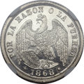 Chile, Chile: Republic 1/2 Decimo 1868,...