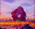 Art:Illustration Art - Pulp, PAUL LEHR (American, 1930-1998). Best SF 73, paperbackcover. Acrylic on board . 11.25 x 13.25 in.. Not signed . ...