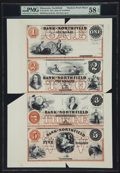 Obsoletes By State:Minnesota, Northfield, MN- The Bank of Northfield $1-$2-$3-$5 G2a-4a-6a-8aModern Proof Uncut Sheet. ...