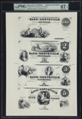 Obsoletes By State:Minnesota, Northfield, MN- The Bank of Northfield $1-$2-$3-$5 G2a-G4a-G6a-G8aModern Proof Sheet. ...