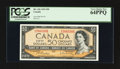 Canadian Currency: , BC-42b $50 1954 Modified Portrait. ...