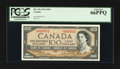 Canadian Currency: , BC-43b $100 1954 Modified Portrait. ...