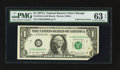 Error Notes:Foldovers, Fr. 1910-G $1 1977A Federal Reserve Note. PMG Choice Uncirculated63 EPQ.. ...