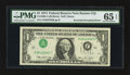 Error Notes:Inverted Third Printings, Fr. 1908-J $1 1974 Federal Reserve Note. PMG Gem Uncirculated 65EPQ.. ...