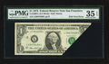 Error Notes:Foldovers, Fr. 1908-L $1 1974 Federal Reserve Note. PMG Choice Very Fine 35EPQ.. ...