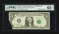 Error Notes:Foldovers, Fr. 1908-E $1 1974 Federal Reserve Note. PMG Gem Uncirculated 65EPQ.. ...