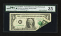 Error Notes:Foldovers, Fr. 1910-E $1 1977A Federal Reserve Note. PMG Choice Very Fine 35.....