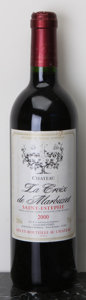 Red Bordeaux, Chateau La Croix de Marbuzet 2000 . St. Estephe. 8bsl, 1tl,2scl. Bottle (10). ... (Total: 10 Btls. )