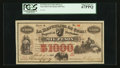 World Currency: , Cuba 1868-76 Revolution La Republica de Cuba 1000 Pesos 6.9.1869Pick 60. ...