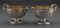 Silver Holloware, American:Creamers and Sugars, A PAIR OF GORHAM SILVER AND SILVER GILT CREAMERS . Gorham Manufacturing Co., Providence, Rhode Island, circa 1885 . Marks: (... (Total: 2 Items)