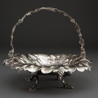 AN EOFF & SHEPARD COIN SILVER SWING HANDLE FOOTED BASKET Eoff & Shepard, New York, New York, circa 1852-1861 M...