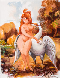 """ELDON DEDINI (American, 1921-2006) """"That's All Very Well for You, But I'm the One Who'll Have to Sit on the Egg"""