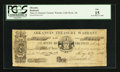 Obsoletes By State:Arkansas, Little Rock, AR- State of Arkansas Treasury Warrant $1.15 May 27, 1863 Cr. 26a. ...