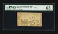 Colonial Notes:New Jersey, New Jersey December 31, 1763 1s PMG Choice Uncirculated 63.. ...