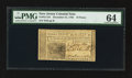 Colonial Notes:New Jersey, New Jersey December 31, 1763 18d PMG Choice Uncirculated 64.. ...