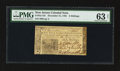 Colonial Notes:New Jersey, New Jersey December 31, 1763 6s PMG Choice Uncirculated 63 Net.....