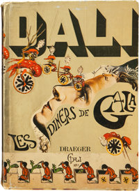Salvador Dali. Les Dîners de Gala. Paris: Draeger, [1973]. First French edition. Inscribed b