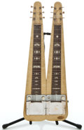 Musical Instruments:Lap Steel Guitars, 1955 Supro Double Neck Project Yellow MOTS Lap Steel Guitar #X43928...