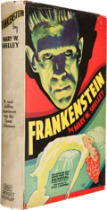 "Books, Mary Shelley. Frankenstein. New York: Grosset & Dunlap,[1931]. ""Illustrated with scenes from the Universal Photopla..."