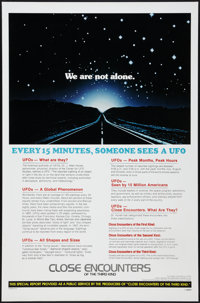 "Close Encounters of the Third Kind (Columbia, 1977). One Sheet (27"" X 41"") UFO Facts Style. Science Fiction..."