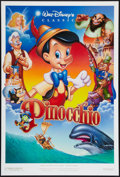 "Movie Posters:Animation, Pinocchio (Buena Vista, R-1992). One Sheets (2) (27"" X 40"") DS Styles A and B. Animation.. ... (Total: 2 Items)"